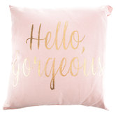 Blush Pink & Gold Hello Gorgeous Pillow